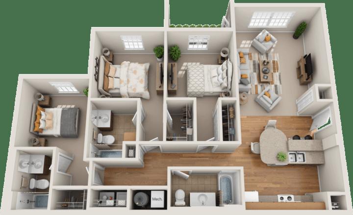 Windsor West Lexington Floorplan